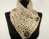 Items similar to Crochet Scarf, Women's Scarf, Oatmeal, Cowl, Button Scarf, Knit Scarf, Neckwarmer, Scarf With Buttons, Scarves, Scarf for Women, Accessories on Etsy
