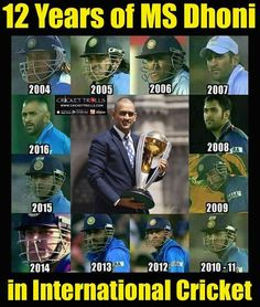 Celebrating 12 years of #Dhonism MS Dhoni: India's most successful skipper For more cricket fun click: http://ift.tt/2gY9BIZ - http://ift.tt/1ZZ3e4d
