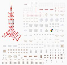 muji builds an architectural model of tokyo using 10,000 of its products