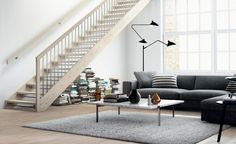 Trapper - Stryntrappa: Kvalitetstrapper til gode priser Scandi Living Room, Style Rustique, Studio Apartment, Stairs, Home Decor, Banisters, Modern Interior, Contemporary Design, Drawing Rooms