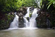 Waterfalls on the island