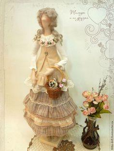 Купить Кукла Тильда: Лилиан (тильда Бохо) - бежевый, тильда, кукла Тильда, тильда бохо
