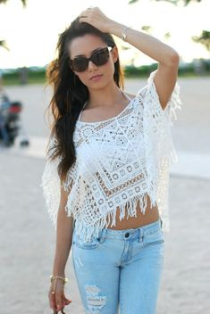 White Clothes for Women | shirt sweater clothes transparent top see through summer outfits ...