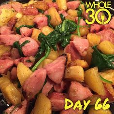 """""""You see this delicious looking dish of plantains, sausage, and spinach? Well it was one of those nights where as I was serving myself to eat in peace, my lovely daughter decided to wake up and not want to fall back asleep for TWO AND A HALF HOURS. So my dinner sat on the counter for that time and I just now ate it cold. I bet it was really good when it was actually hot and crispy. Lord, give me strength. #thestruggleisreal #mommyproblems #colddinner  #whole30 #whole100 #CTLTwhole100…"""