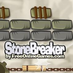 Stone Breaker is an #Breakout #Arcade #Game. There is a formation of stone bricks at the top, a wooden #paddle at the bottom and in between them a metal #ball.