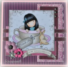 new Gorjuss....... 3d Cards, Your Cards, Fabric Cards, Paint Cards, Whimsy Stamps, Mothers Day Cards, Copics, Birthday Cards, Diy Birthday
