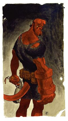 Old Hellboy drawing I did 10 years ago. Maybe its time I did another one. Cultura Pop, Comic Books Art, Comic Book Characters, Comic Character, Really Cool Drawings, Amazing Drawings, Geeks, Hellboy Movie, Great Artists