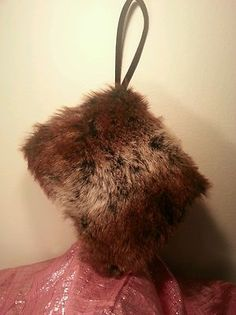 Faux Fur Muff Handbag Purse Clutch by Icing