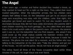 "creepypasta ""The Angels have taken the phone box."" That's why the Doctor said ""Don't blink, don't look away..."""