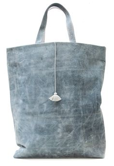 KABA - Tote bag in leather with uneven effect. ***One of a kind¨¨¨ by Valerie Barkowski