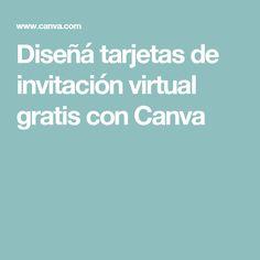 Diseñá tarjetas de invitación virtual gratis con Canva