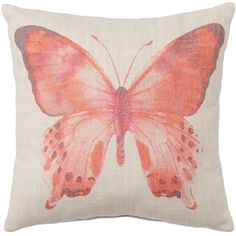 SONOMA Goods for Life™ Butterfly Throw Pillow ($24) ❤ liked on Polyvore featuring home, home decor, throw pillows, multicolor, patterned throw pillows, butterfly accent pillows, butterfly throw pillows, butterfly home decor and animal throw pillows