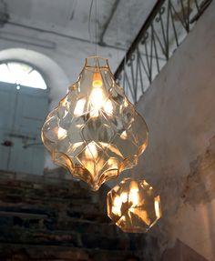Suspension en verre 24 KARATI SE104 Collection 24 Karati by Karman design Matteo Ugolini
