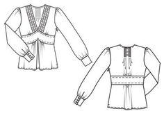 Блуза - выкройка № 106 A из журнала 12/2011 Burda – выкройки блузок на Burdastyle.ru
