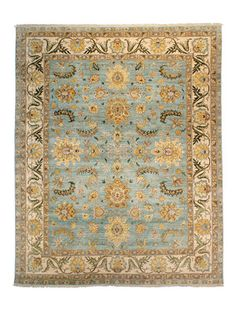 Perfect for bedroom Hand-Knotted Rug by FJ Kashanian
