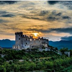 Castle of the XII century in finale ligure, Liguria Italy ~ Photograph By @storiedalcielo