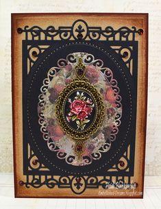 Heidi Blankenship: Embellished Dreams- -ButterBeeScraps - Rose Cameo Card - 6/25/14 (Spellbinders: S6-001 5 x 7 Matting Basics A, S6-010 5 x 7 Heirloom Legacy, S4-425 Elegant Ovals)