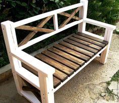 Купить Скамья садовая - коричневый, мебель садовая, для дачи, мебель ручной работы, лавочка, лавка