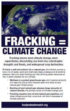 Fracking = Climate Change