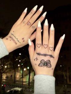 Cute Hand Tattoos, Dainty Tattoos, Pretty Tattoos, Mini Tattoos, Finger Tattoos, Small Tattoos, Cool Tattoos, Tatoos, Skeleton Hand Tattoo