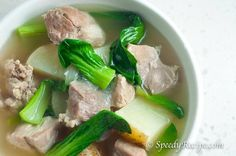Filipino Pork Nilaga Soup is a Boiled Pork Soup with Potato and Bok Choy. It is a simple way to prepare soup the Pinoy way