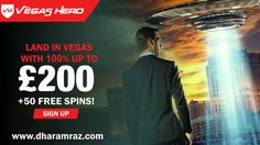 Grab special bonus package of, 100% up to €200 plus 50 FREE spins at Vegas Hero Casino today! Visit Vegas Hero Casino Over $1,000,000 in available Jackpots is waiting for you. Sign Up Now https://bit.ly/2rpIBEF #VegasHero #onlinecasinobonus #onlinecasino #poker #roulette #blackjack #slots #bingo #spins #Dharamraz