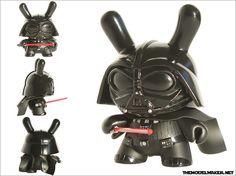 Star Wars Darth Vader custom dunny vinyl toy by themodelmaker, via Flickr