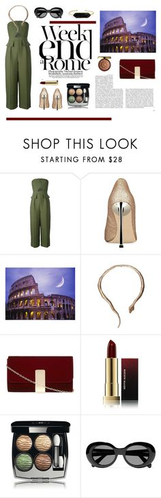 """""""Weekend in Rome!"""" by tinita-sjm ❤ liked on Polyvore featuring C/MEO COLLECTIVE, Nine West, Lara, Bernard Delettrez, Dorothy Perkins, Whiteley, Physicians Formula, Kevyn Aucoin, Chanel and Acne Studios"""