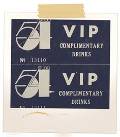 MUCH COVETED--YOU HAD TO HAVE PULL TO GET THESE, LUCKILY I GOT MY SHARE, OTHERWISE SWIPED DRINKS!    Studio 54