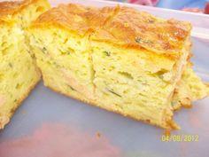 Cake au saumon et courgette