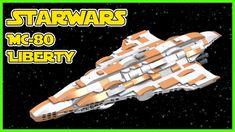 Lego MonCalamari MC-80 Liberty CLass Star Cruiser   Star Wars