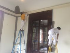 In-progress shot of #painting the Atlanta Symphony Orchestra decorators' show house.