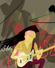SARAH FERONE Illustration + Design  |  Nels Cline for Jazz and Draw