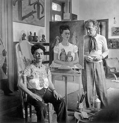 It's well known that Frida Kahlo's relationship with Diego Rivera was an open one. Both had different affairs outside their home and seemed to be ok with it.