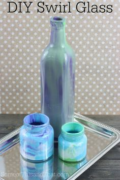 DIY Swirl Glass. Makes an easy Mother's Day gift too!