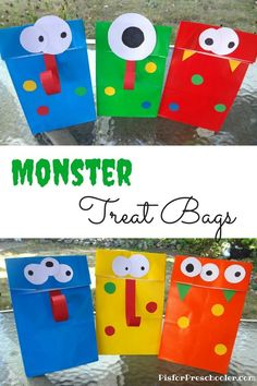 Adorable Monster Treat Bags are just perfect for parties! Best of all...they're easy!