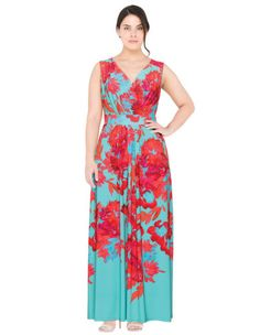 Printed wrap effect maxi dress by navabi.