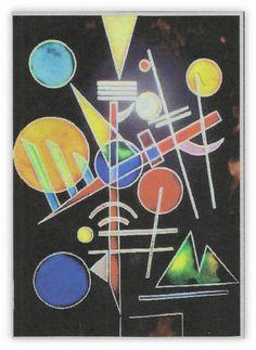 Kandisky Composizione.Quadro dipinto su di Lartistadelvetro