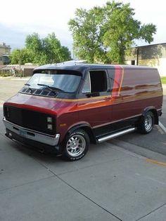Custom 70's Dodge van..vk
