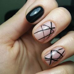 Geometry is way easier when it's in the form of this negative space mani.