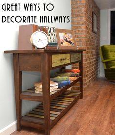 Several great ways to decorate those awkward hallways!