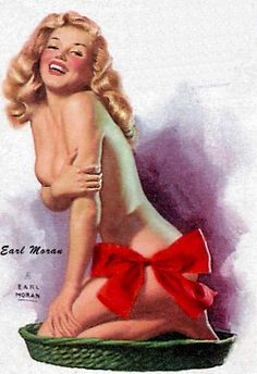 In 1946, calendar and magazine illustrator Earl Moran hired the Blue Book Agency's Norma Jeane Dougherty (Marilyn Monroe) to model for him.