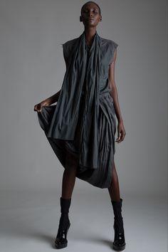 Vintage Pleasure Principle Shirt and Issey Miyake Skirt. Designer Clothing Dark Minimal Street Style Fashion
