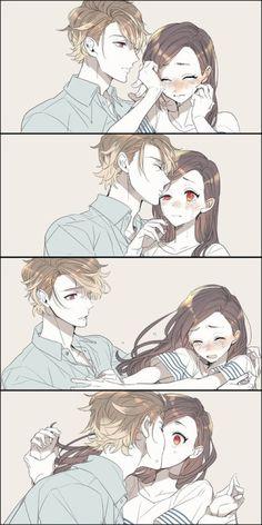 anime, couple and manga Couple Manga, Anime Love Couple, Cute Anime Couples, Anime Couples Hugging, Anime Amor, Manga Anime, Anime Comics, Anime Cosplay, Kawaii Anime