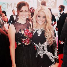 Sadie Robertson from Duck Dynasty with me on the CMA red carpet