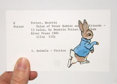 Peter Rabbit Beatrix Potter Print of painting of by WingedWorld Print on Index card