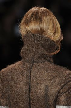 wear your hair in your sweater look. effortless  *from CK runway show, NYFW Fall 2014/15