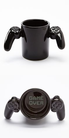For the gamer boyfriend! That would be perfect if I ever get a gamer boyfriend. I'm also a gamer so that would be a plus Cool Mugs, Gifts For Him, Gifts For Brother, Inventions, Diy Gifts, Coffee Cups, Drink Coffee, Tea Pots, Christmas Gifts
