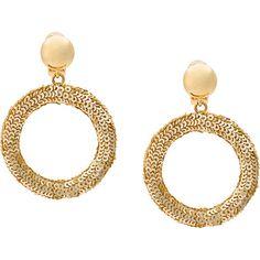 Oscar de la Renta sequin circle earrings ($580) ❤ liked on Polyvore featuring jewelry, earrings, metallic, gold colored earrings, circle jewelry, circular earrings, metallic jewelry and plastic earrings