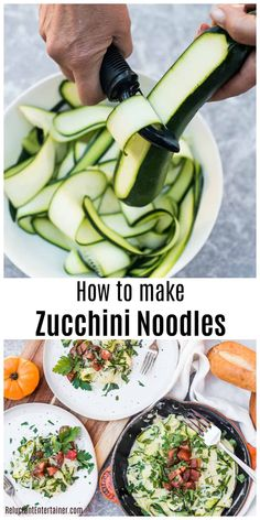 How to make zucchini noodles with a peeler recipe Peel zucchini with a peeler lightly saute Serve with a white sauce fresh garden tomatoes and herbs via Reluctant Entertainer Sandy Peeler Ideas of Peeler - Peeler - Ideas of Peeler Side Dish Recipes, Dinner Recipes, Dinner Ideas, Freezer Recipes, Freezer Cooking, Lunch Ideas, Drink Recipes, Zoodle Recipes, Cabbage Soup